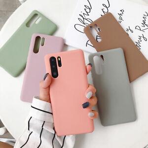 For Huawei P30 P20 Pro Mate 30 20 P Smart Case Soft Rubber Matte Silicone Cover