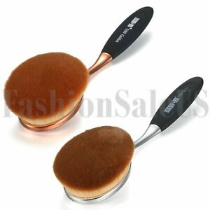 1Pc Professional Makeup Brushes Oval Cream Puff Toothbrush Brush Rosegold Tone