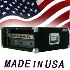 Amp Rack Case 4 U Space heavy duty for Power Amplifiers Processors Music gear