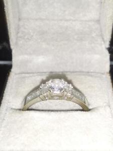 Lady's Diamond Engagement Ring .50 CT. 14K White Gold 3.6g Size:7.5 (CGM018909)