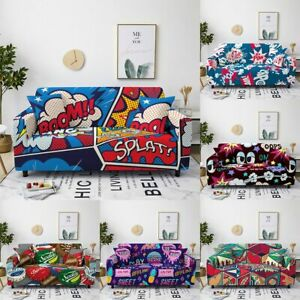 Cartoon Anime Sofa Covers Furniture Protective Stretch Couch Cover Anti-Dirty