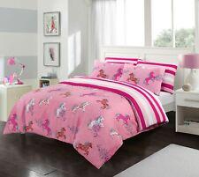 Unicorn Kids Duvet Cover Girls Pink Bedding Sets 100% Cotton Single Double Size