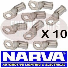 NARVA BATTERY CABLE EYELET LUG CABLE SIZE 25mm2 STUD SIZE 8mm 57129 SOLDER X10