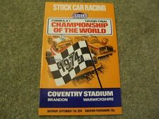 Stock Car Racing Programme BriSCA F1 World Championship Coventry 7th Sept 1974