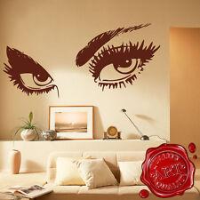 Gigante Mujeres Ojos Vinilo de Pared Adhesivo salón Dormitorio Transferir decal1