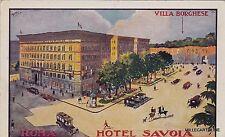 # ROMA: HOTEL SAVOIA