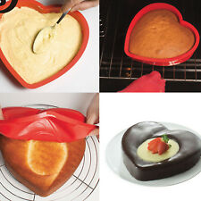 Amazing Heart Shape Silicone Cake Mold Mould Non Stick Valentine Day Bakeware