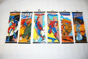 1980 Marvel Posters Thor Hulk Spiderman Silver Surfer the Thing RARE Vintage
