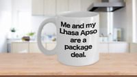 Lhasa Apso Mug Coffee Cup Funny Gift for Dog Owner Lover Mom Dad Package Deal