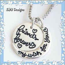 FRIENDS FOREVER (Insperational Message) -Pendant necklace