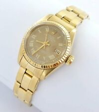Rolex Datejust Damenuhr 18kt Gold 750er 6917 Oysterband
