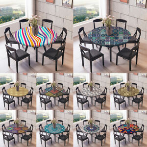 Elastic Band ROUND TABLECOVERS Table Cloth Cover Party Catering Tableware