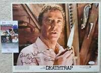 Michael Caine JSA Coa Signed 11x14 Deathtrap Lobby Card Photo Autograph
