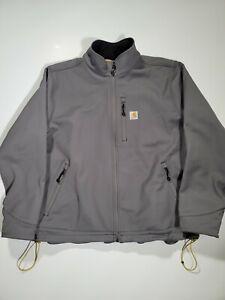Carhartt Men's Full Zip Coat Gray Size 2XL