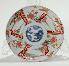 Antico GIAPPONESE PERIODO MEIJI piccolo IMARI in porcellana BACINELLA Con Drago & Uccelli