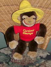 "CUTE!!! Curious George in Yellow Hat Plush Monkey Doll GUND 13"" Rare"