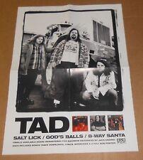 TAD Salt Lick/God's Balls/8-Way Santa Poster Original Vintage Promo 18x24 RARE