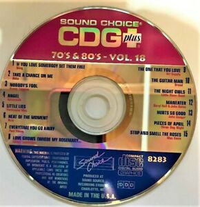 SOUND CHOICE KARAOKE SPOTLIGHT SERIES CD+G -8283- 70S & 80S  VOL. 18 - CDG