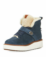 Coach Womens Urban Hiker Suede Ankle Cold Weather Boots Size 8 DARK DENIM Blue