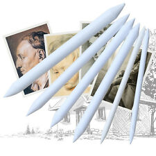 6x Blending Smudge Stump Stick Tortillon Set Art Drawing Tools Sketch White Pens