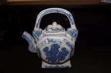 Vintage Chinese blue and white teapot. Collectible