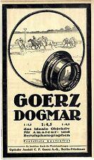 Goerz Dogmar Objektiv für Amateur-u.Berufsphotographen Historische Annonce 1918