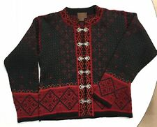 Christiania Sweaters Norway Womens Large Traditional Wool Scandinavian Cardigan