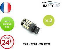 2 X AMPOULES FEUX DE JOUR 30 LED BLANC ® T20 7743 W21/5W DACIA NISSAN PEUGEOT