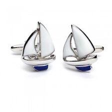 Blue Keel Yacht Cufflinks - Gift Boxed