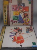 SEGA SATURN Sakura Wars 1 & 2 Set Great Disk Japan Import