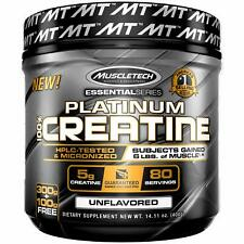 MuscleTech Platinum Creatine Monohydrate Powder, 100% Pure Micronized Creatine P