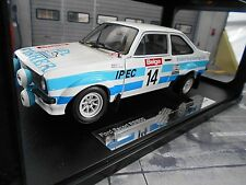 Ford Escort MKII RS 1800 2.0 rally #14 Fisher 1981 combatió Ypres bel Sunstar 1:18