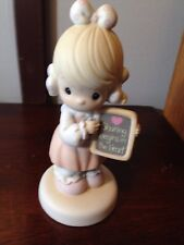 Sharing Begins In The Heart Precious Moments 520861 Mint Girl with Chalkboard