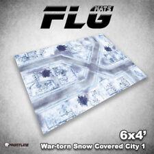 FLG Mats: War-Torn Snow City 6x4' High Quality Neoprene Tabletop Gaming Mat
