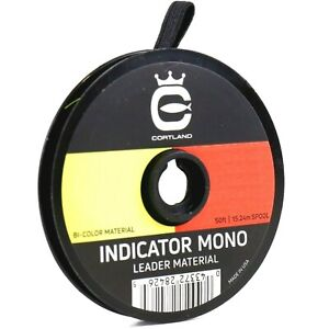 Cortland Indicator Mono Leader Material Bi Color - ALL SIZES - FREE SHIPPING