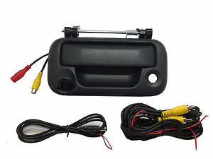 Ford Black Tailgate Backup Camera Handle F150 F250 F350  2005-2014  Color CCD