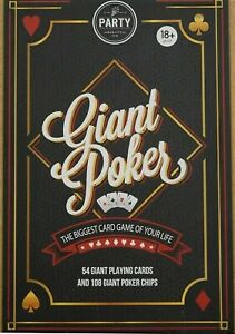 Giant Playing Cards Poker Set with Poker Chips