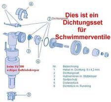 Dichtungsset für Spülkasten Füllventil / Schwimmerventil 500,506,507 von SANIT