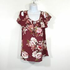 A.Byer Cold Shoulder Floral Blouse NWT Size Large