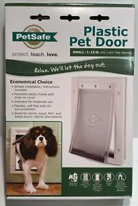 PetSafe Plastic Pet Door For Small Dogs & Cats 1-15 Lbs #PPA00 -10958 (New)