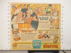 newspaper ad 1953 HEINZ chicken soup baby food hot dog relish, SPIC SPAN cleaner