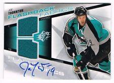 2008-09 SPx Flashback Fabrics Dual Jersey Autograph Auto #235 Joe Thornton