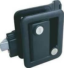Fastec RV Travel Trailer Camper Entry Door Lock Handle Knob Deadbolt Black 43610