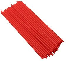 Red Straight Straws x 100 Disposable Drinking Straw Plastic Party Tableware