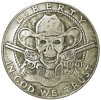 Cowboy Crazy Novelty Head Tail Lucky Token Challenge Coin US SELLER FAST SHIP