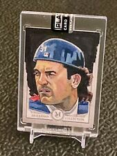 2020 Topps Museum MIKE PIAZZA 1/1 Original Artist signed  Canvas