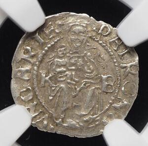 HUNGARY. Ferdinand I Silver Denar, 1547-KB, NGC MS62