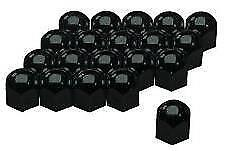 Black High Gloss Stainless Steel Wheel Nut Covers 17mm fits MERCEDES