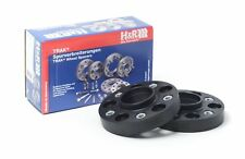H&R 25mm Black Bolt On Wheel Spacers for 2015-2016 Ford Mustang