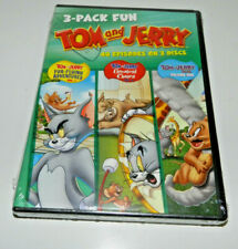 Tom and Jerry 3 Pack Fun DVD SET - 40 Episodes on 3 Discs DVD *Brand New Sealed*